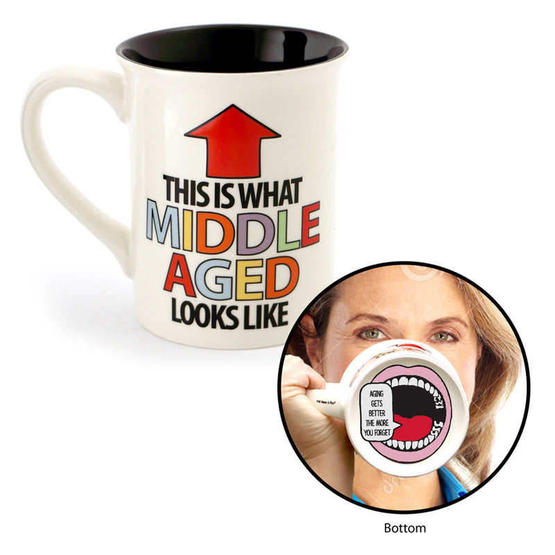 Middle Aged Birthday Mouth Mug