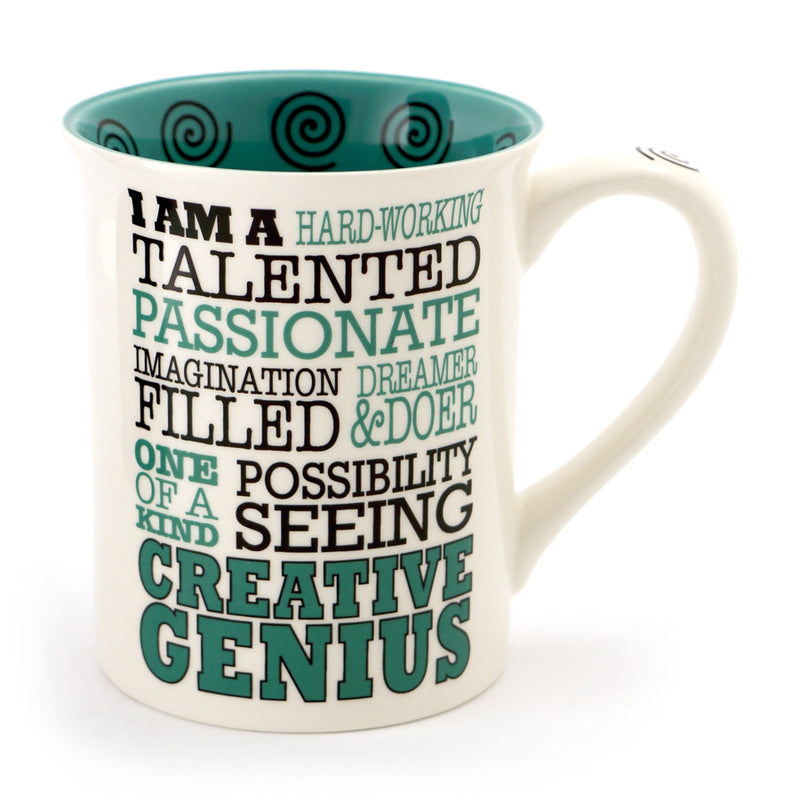 Creative Genius Typography mug