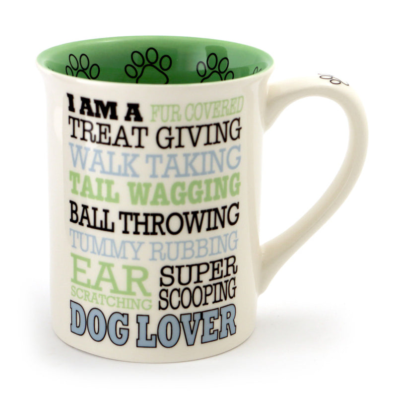 Dog Lover Typography Mug