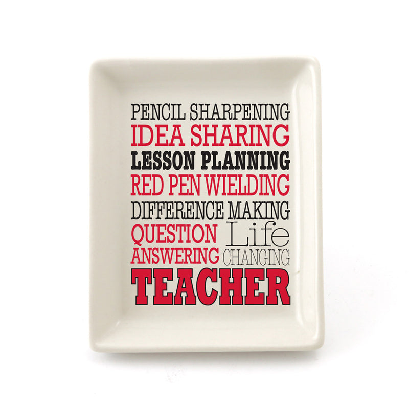 Teacher Typography Tray