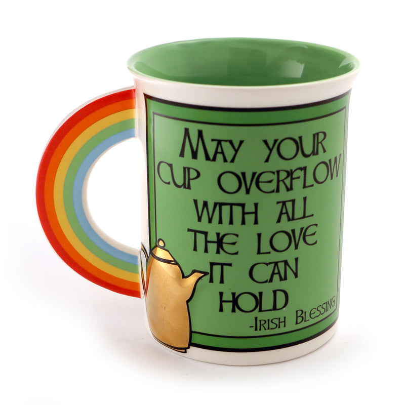 Irish Novelty Mug with Rainbow
