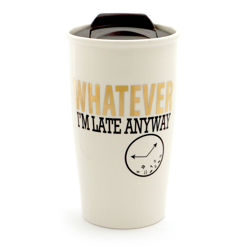 Whatever Travel Mug Gold