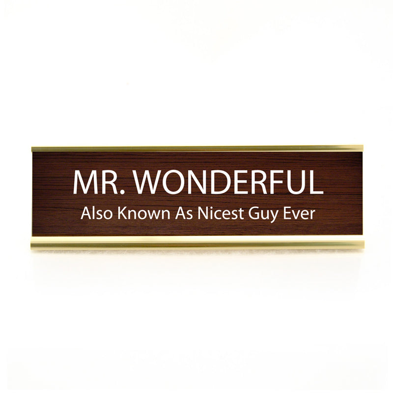 Funny Desk Plate Mr. Wonderful