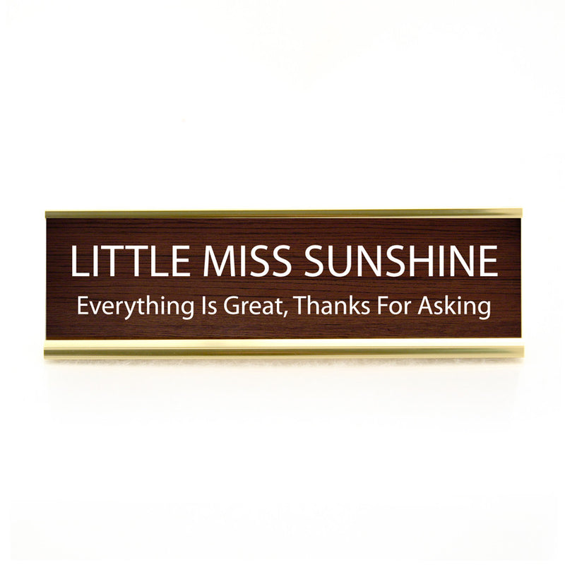 Funny Desk Plate  My Sunshine