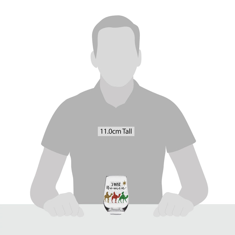 3 wise women stemlass glass