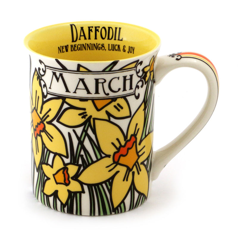 March Birthday Flower Mug