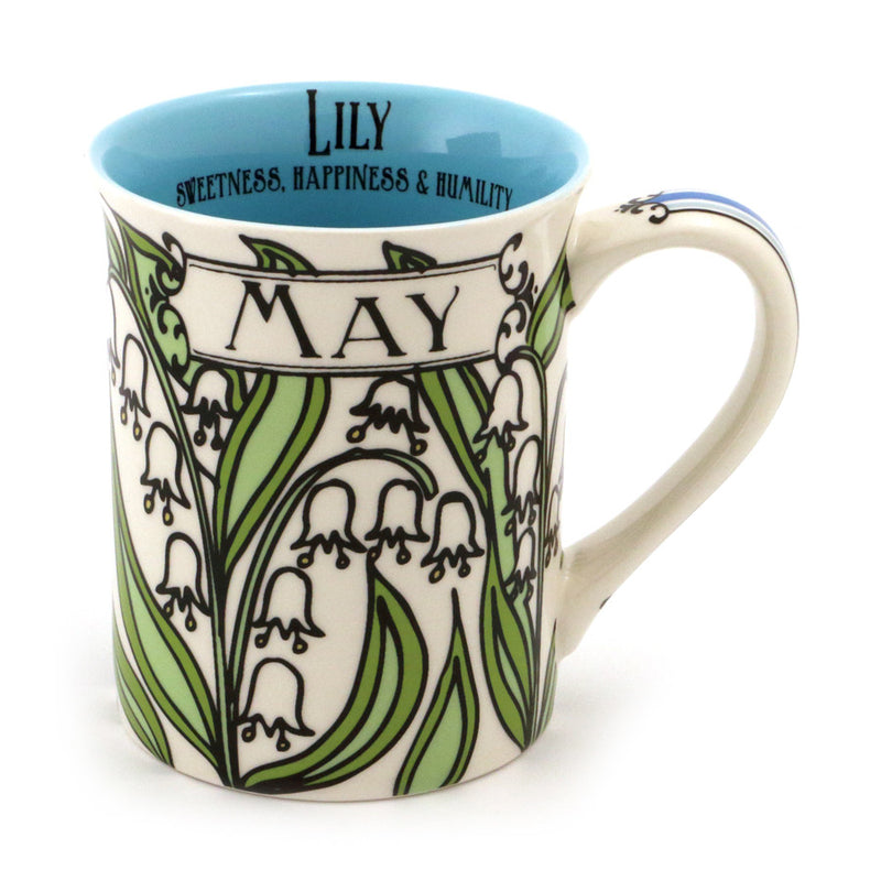 May Birthday Flower Mug - Lily