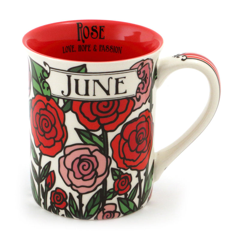 June Birthday Flower Mug-Rose