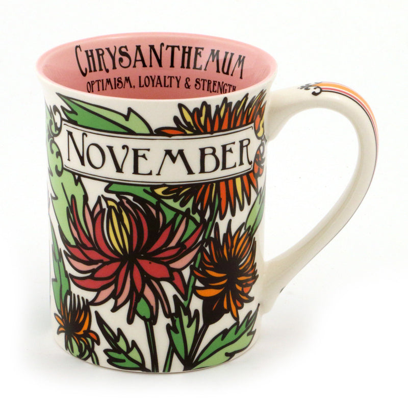 November Birthday Flower Mug
