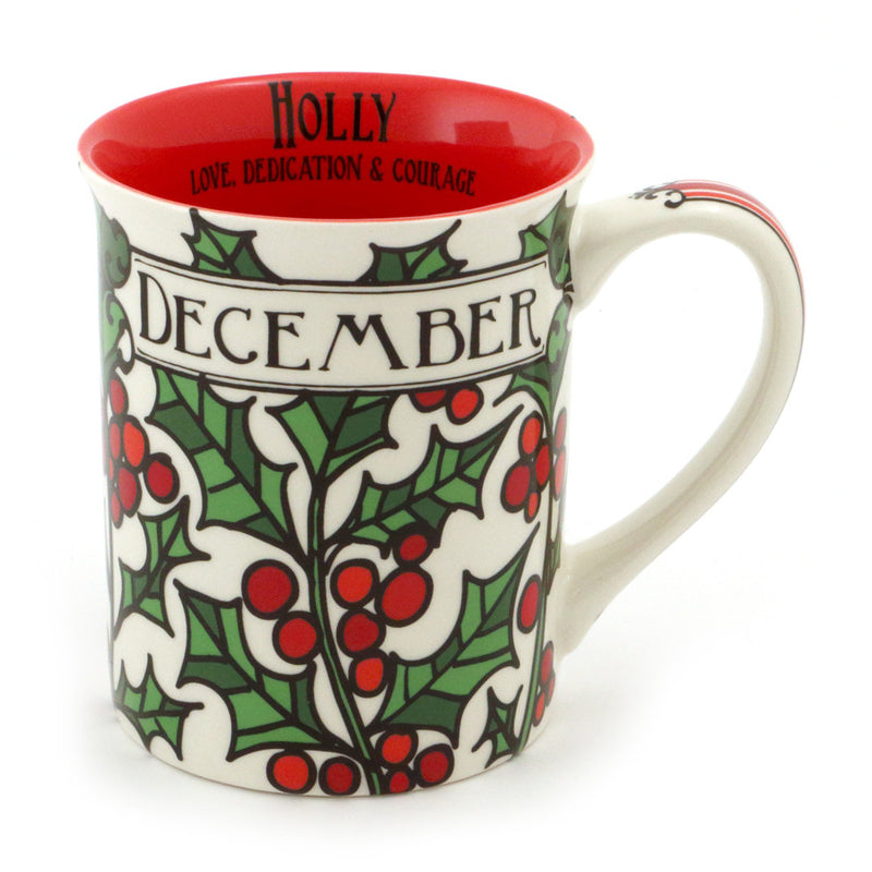 December Birthday Flower Mug