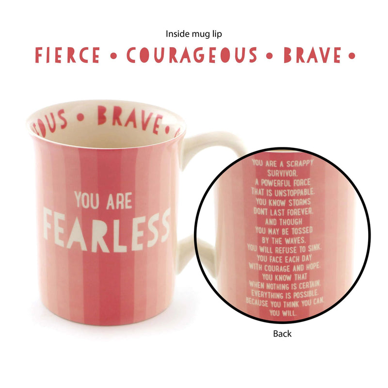 Pink Survivor Mug - Fearless