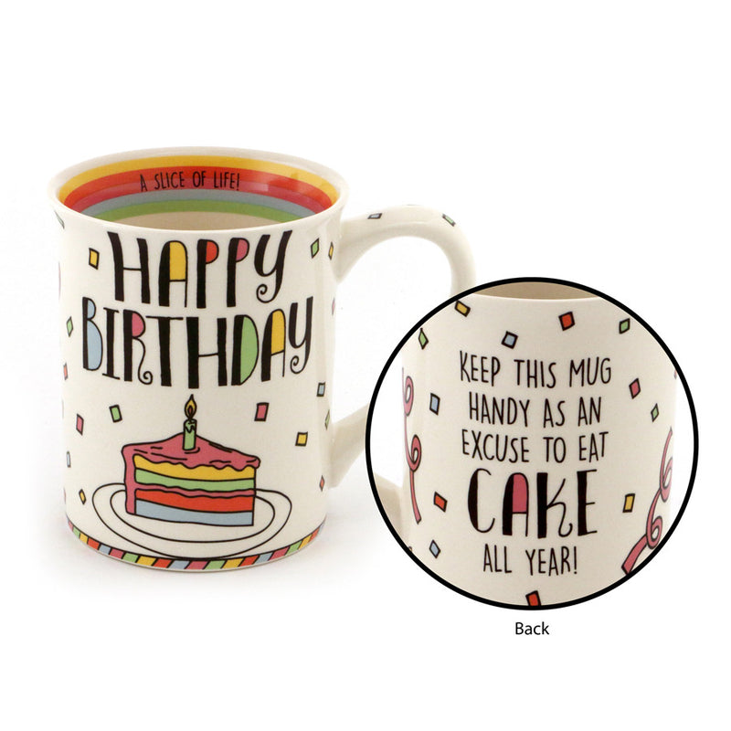 Happy Birthday Cake Mug
