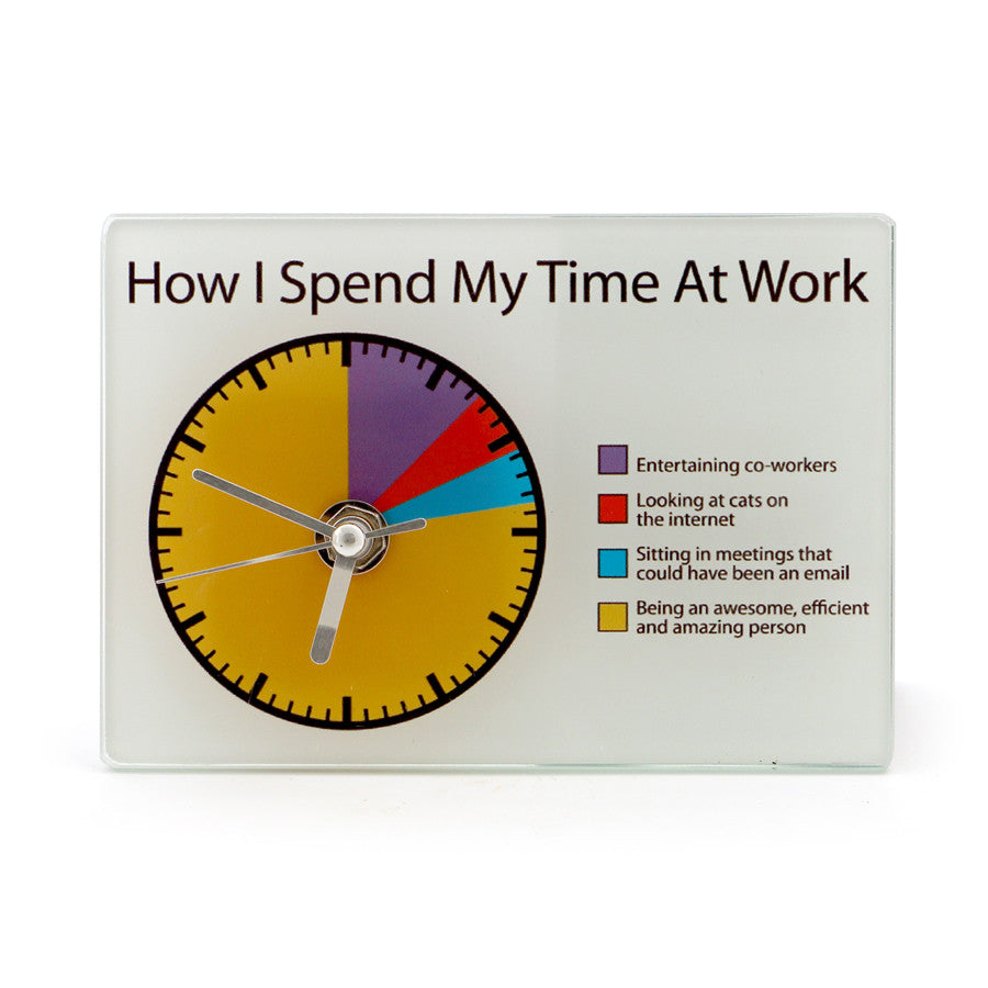 Work Pie Chart Clock Our Name Is Mud