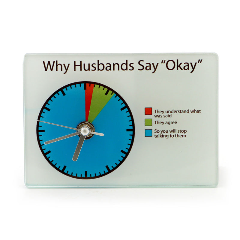 Husband Pie Chart Clock