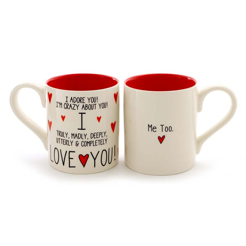 I LOVE YOU ME TOO MUG SET