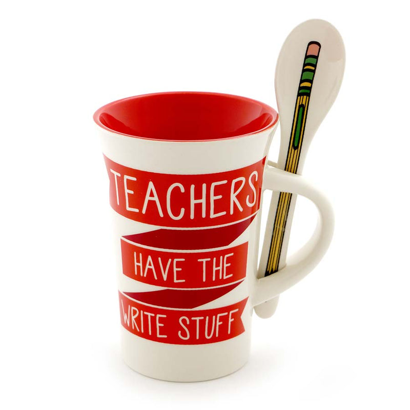 TEACHER MUG WITH SPOON