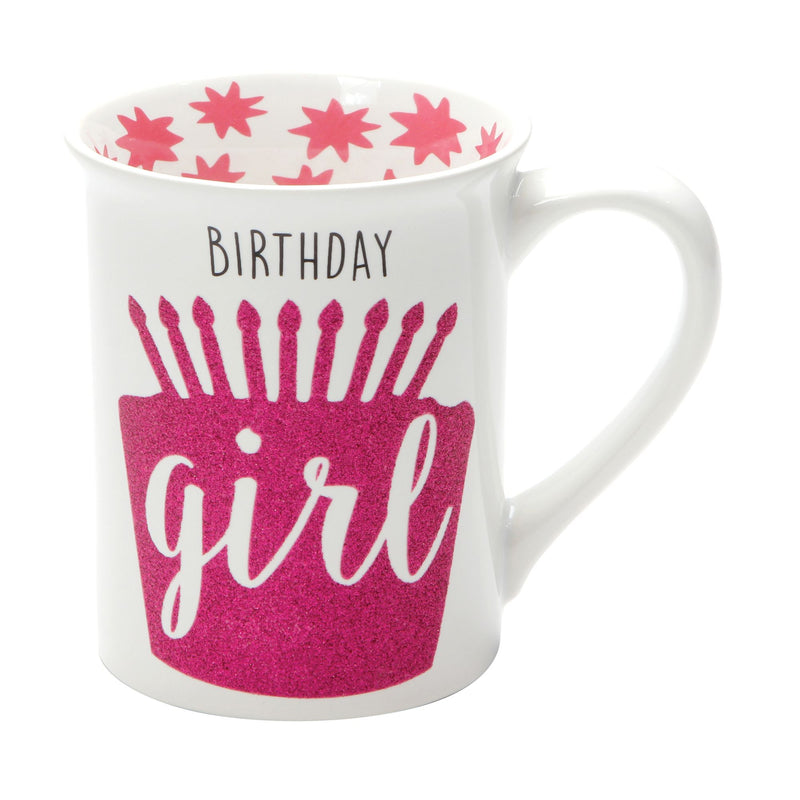BIRTHDAY GIRL YAY  GLITTER MUG