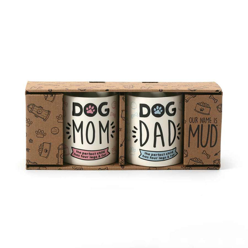 DOG MOM DOG DAD MUG SET