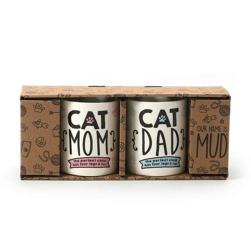 CAT MOM CAT DAD MUG SET
