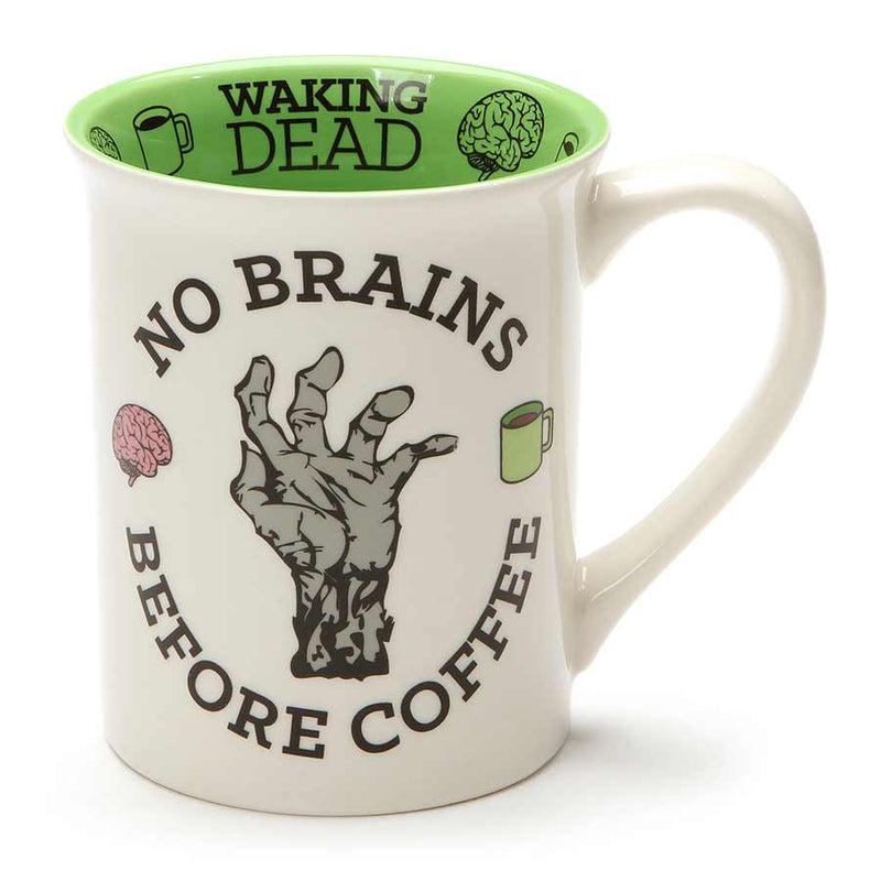 BRAIN BEFORE COFFEE ZOMBIE MUG