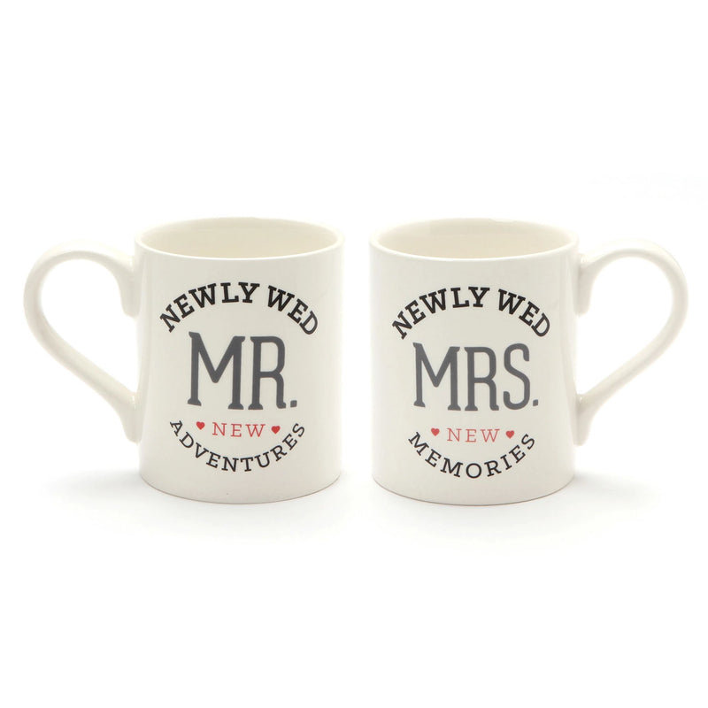 NEWLYWED MR MRS MUGSET