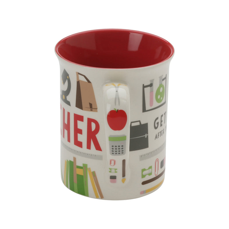 Teacher Coffee Pattern Mug