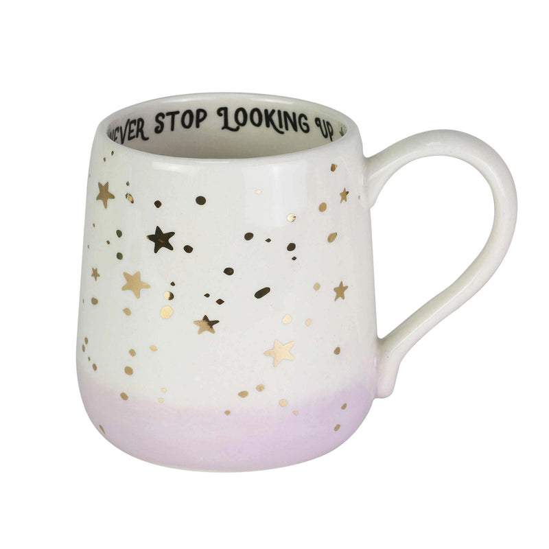 Gold Star Looking Up Mug