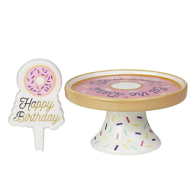 Donut Sign and treat pedestal