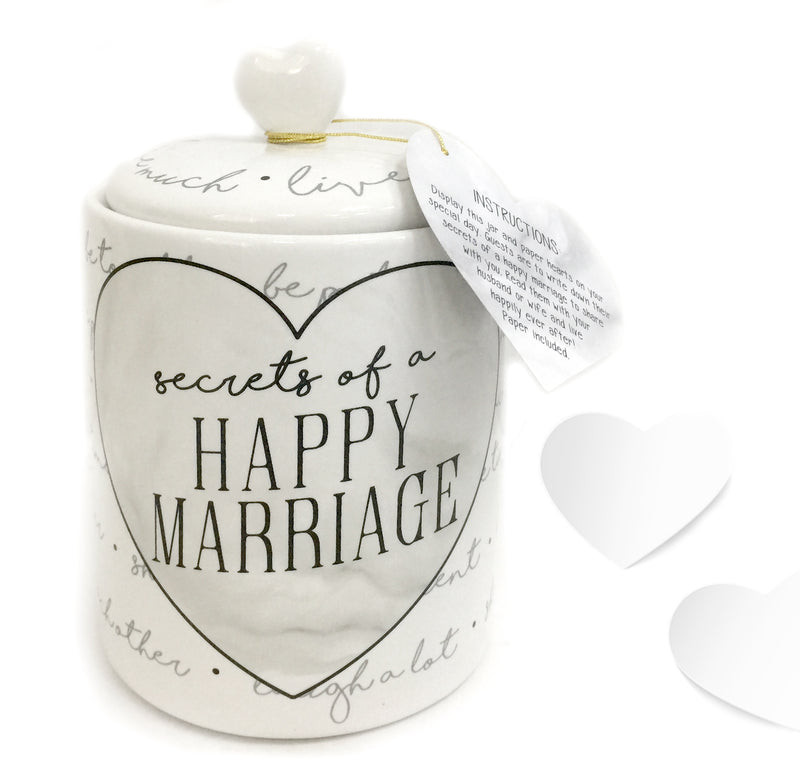 Happy Marriage Jar with paper
