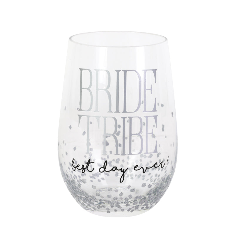 Bride Tribe Rocks Glass