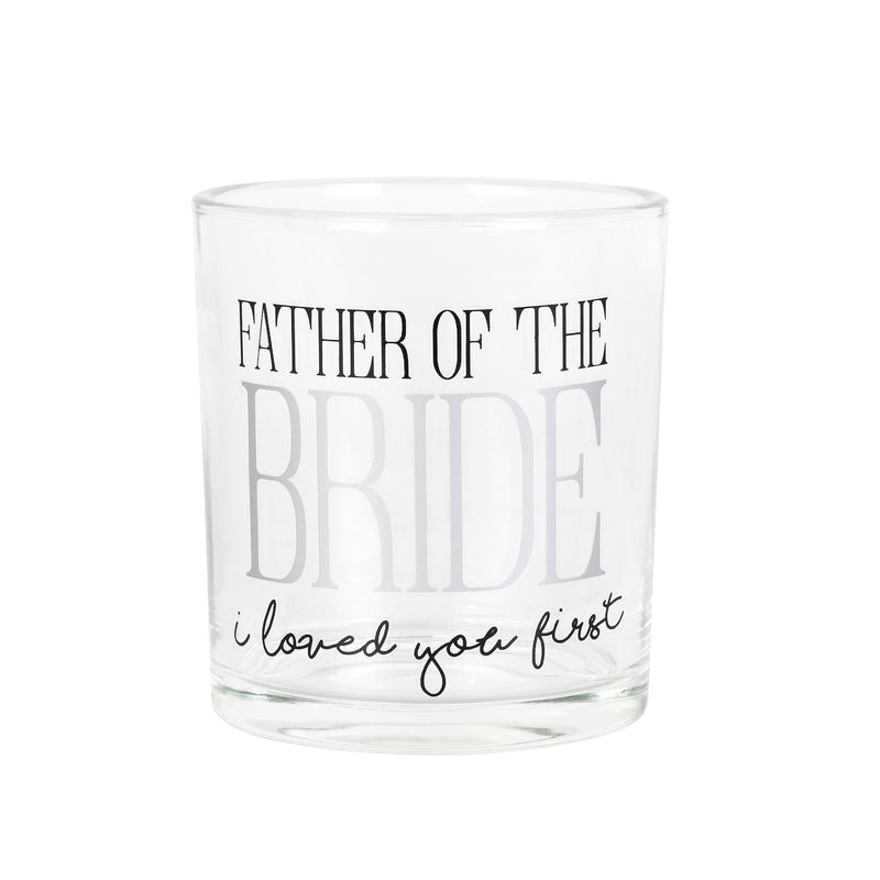 Father of Bride Rocks Glass
