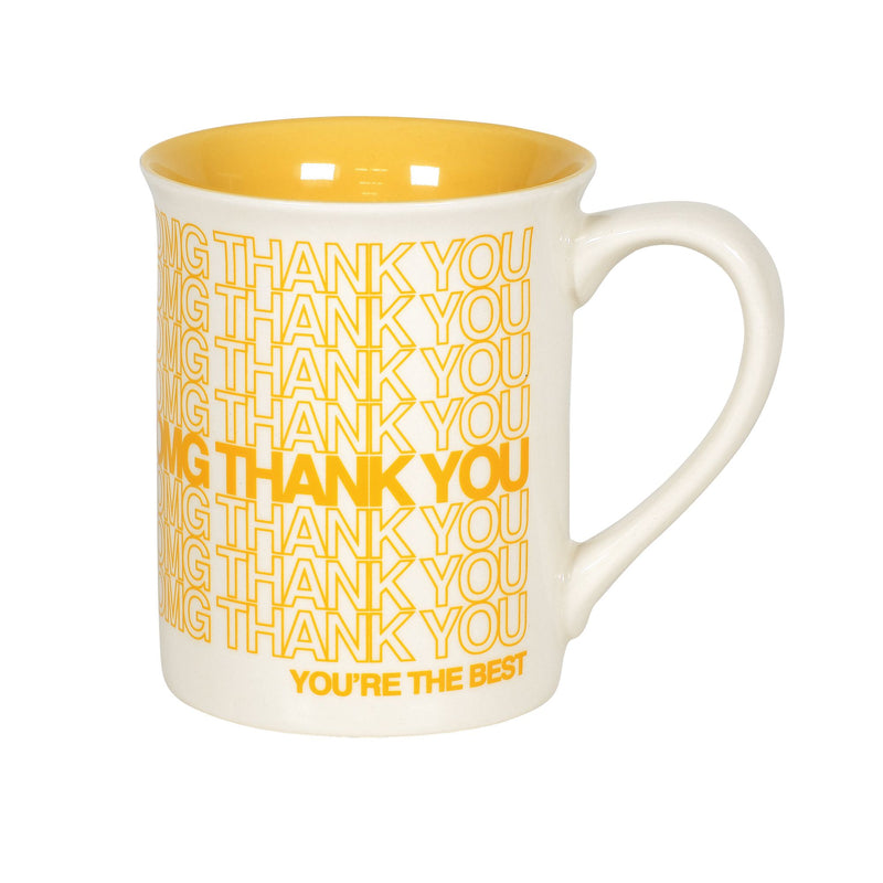 OMG THANK YOU REPEAT TYPE MUG