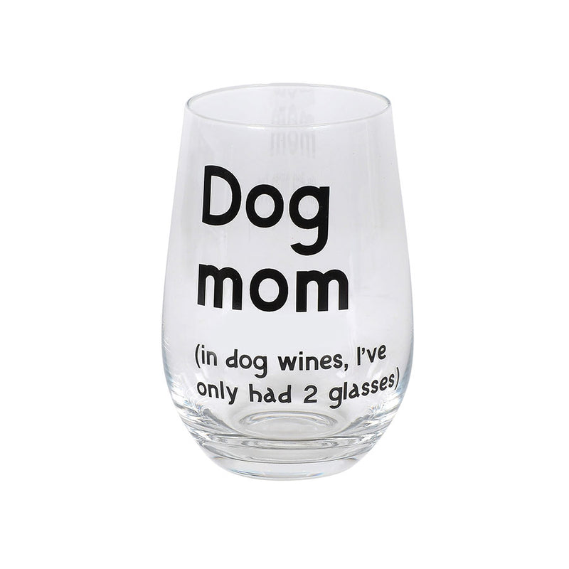 DOG MOM WINE GLASS