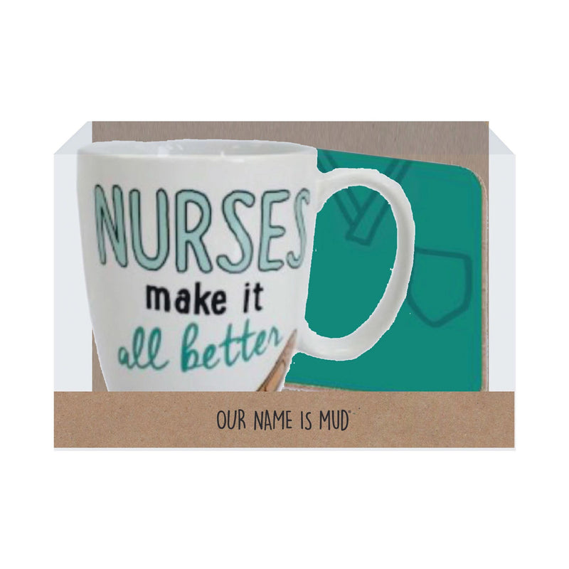 Nurse Mug with Coaster Set
