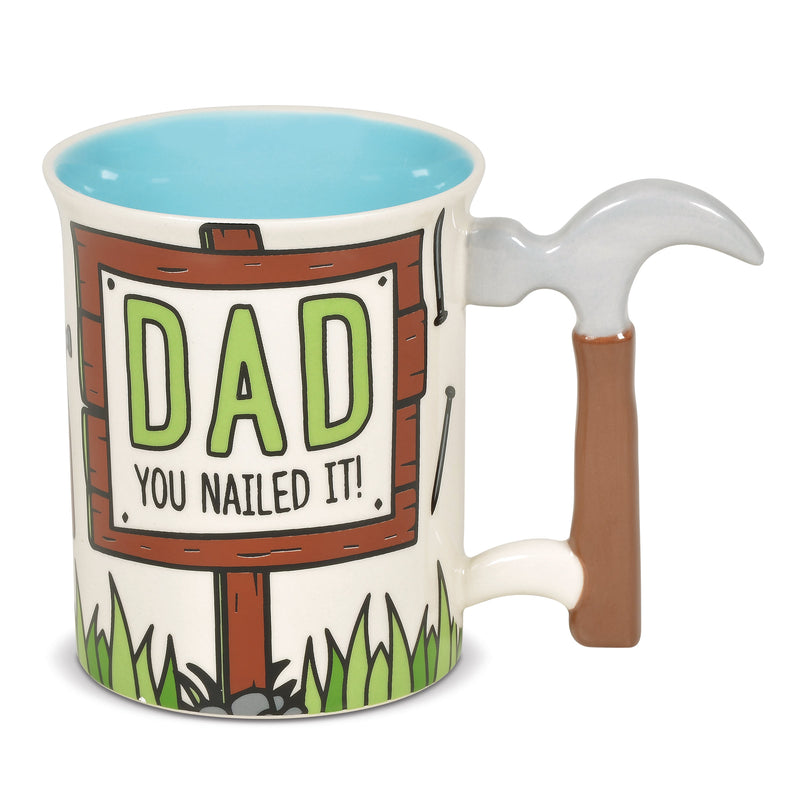Dad Hammer Sculpted Handle Mug