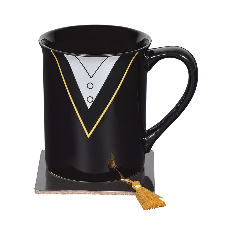 Grad Mug with Coaster Set