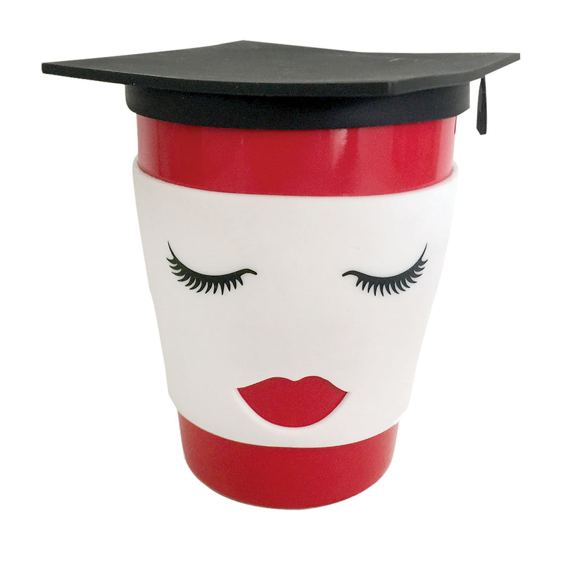Grad Female Mug with Silicone