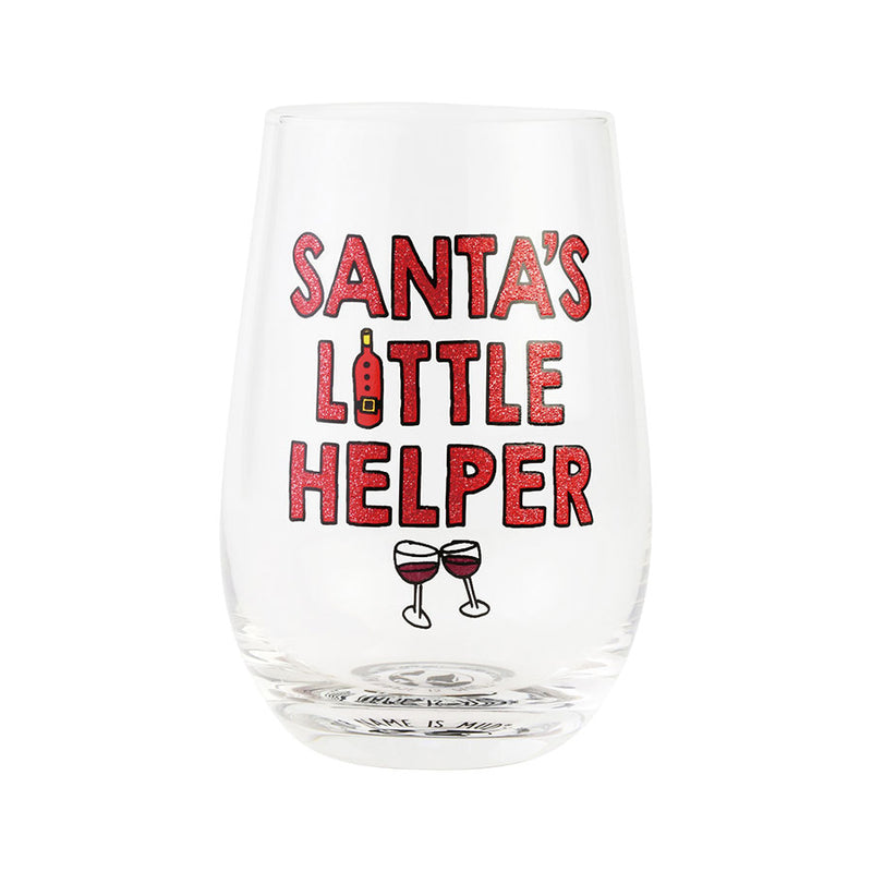 SANTA'S LITTLE HELPER GLASS