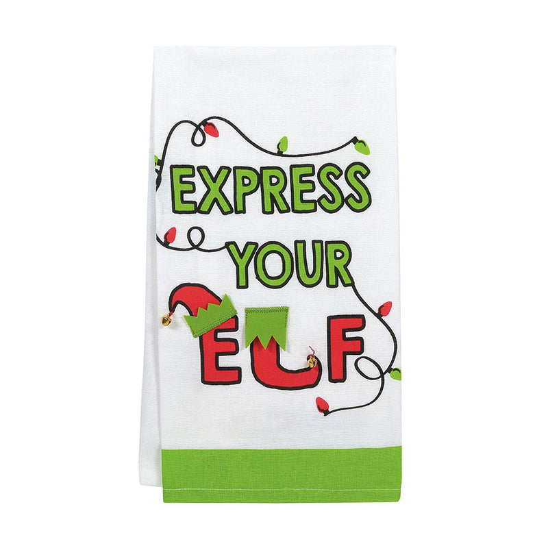 EXPRESS YOUR ELF TEA TOWEL