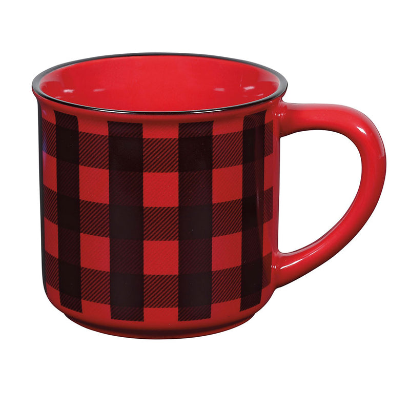 COUNTRY LIVING PLAID MUG