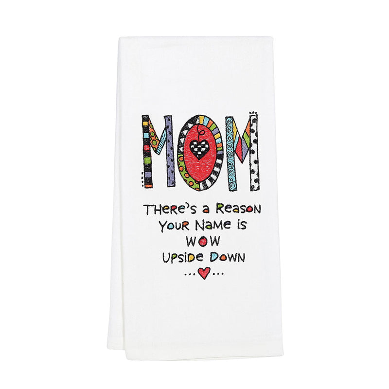 Embroidered  Mom Tea Towel