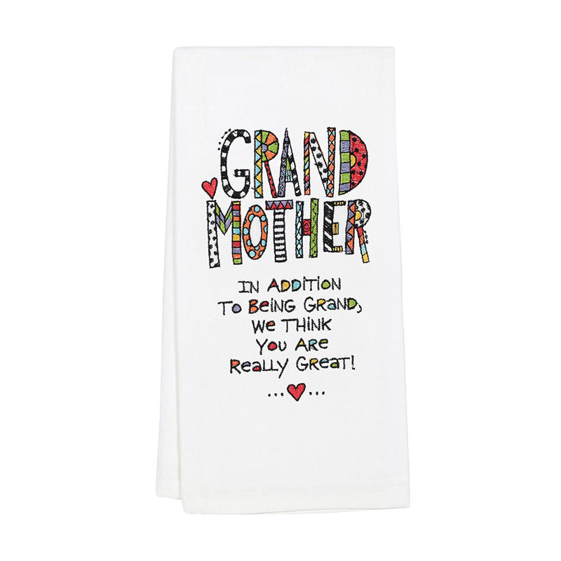 Embroidered  Grandmother Towel