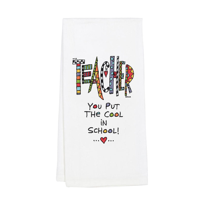 Embroidered Teacher TeaTowel