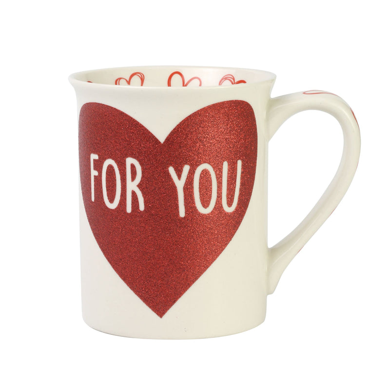 For You Glitter Heart Mug