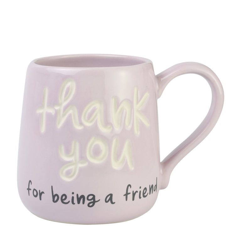 Thank You Friend Engraved Mug