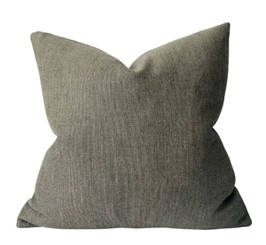 Ready to Ship, Woven Pillow Cover in Pewter