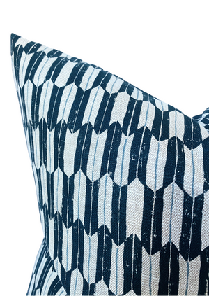 Clay McLaurin Arrow Pillow Cover in Indigo