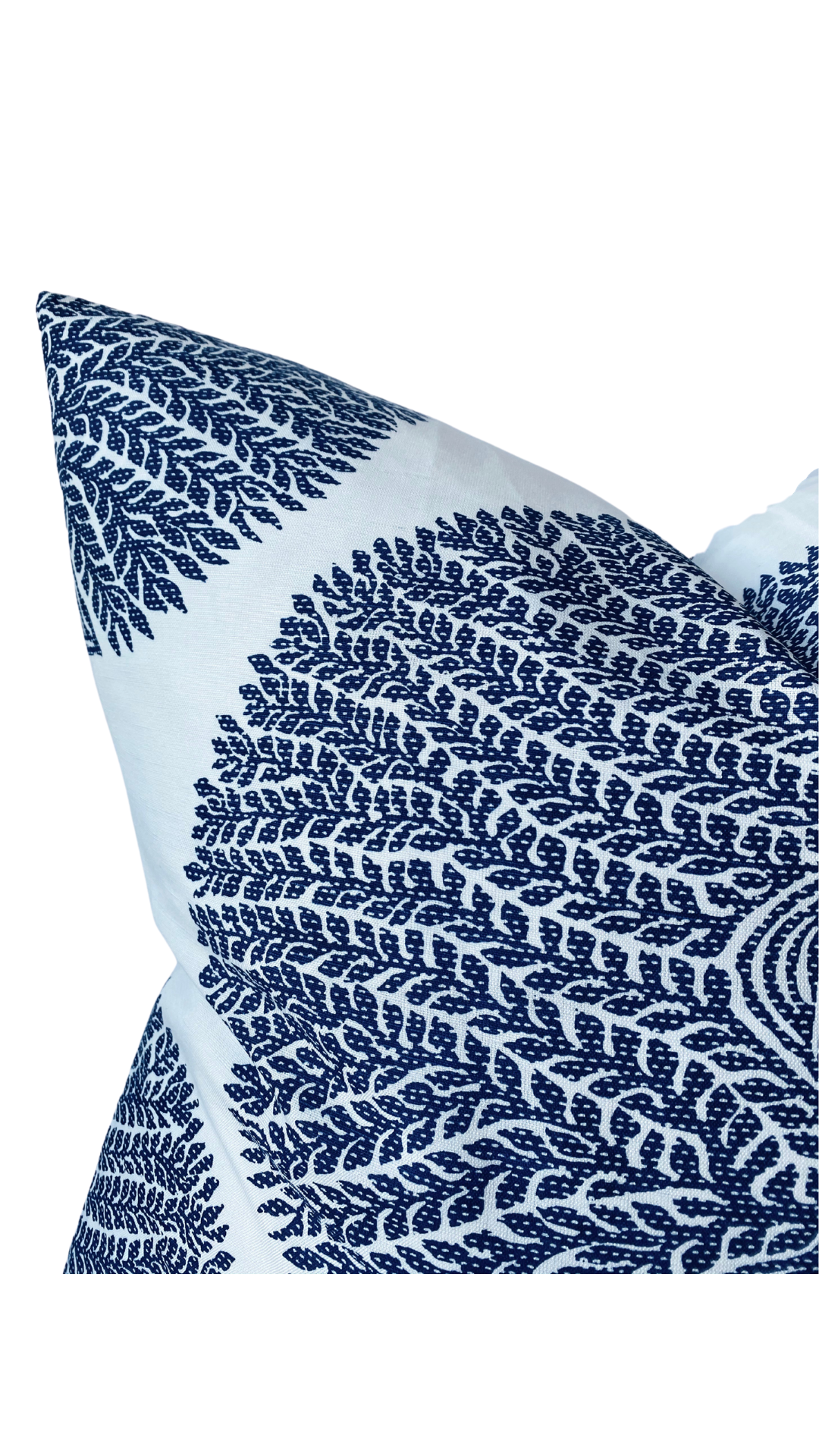 Thibaut Mulberry Tree Pillow Cover in Navy