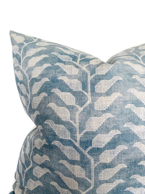 Folio Pillow Cover in Lake Blue