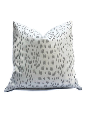 Les Touches Pillow Cover in Gray